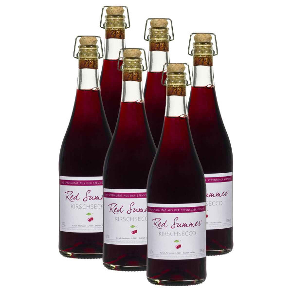 6 x Red Summer Kirschsecco 0,75l