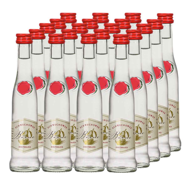 20 x Obstbrand Birne 4cl (40%Vol.)