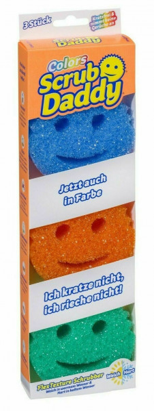 3 x Scrub Daddy Colors