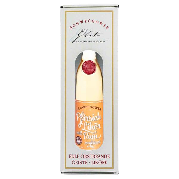 Schwechower Likör Peach & Rum in Geschenkkarton (