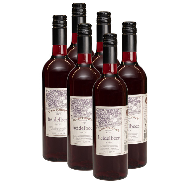 6 x Heidelbeerwein 0,75l (8,5%Vol.)